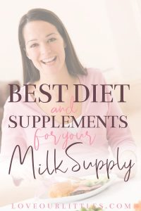 best diet and supplements for milk supply - pinnable image