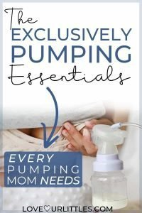 The exclusively pumping essentials and pumping supplies pinnable image