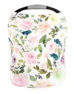 car seat canopy with floral design for nursing while traveling