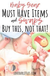 Baby gear must haves list for a new mom