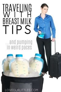 Traveling with breast milk tips and pumping in strange places