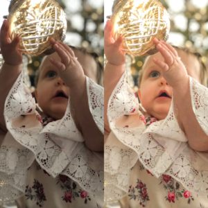 before and after baby photo editing