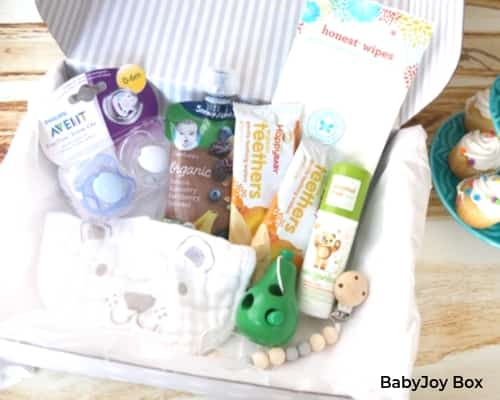 BabyJoy Box monthly subscription box for babies.