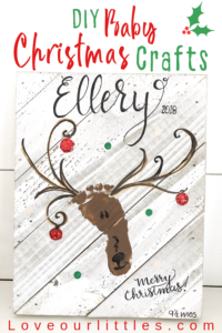 pin image diy baby Christmas footprint craft