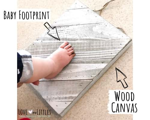 Baby foot on canvas