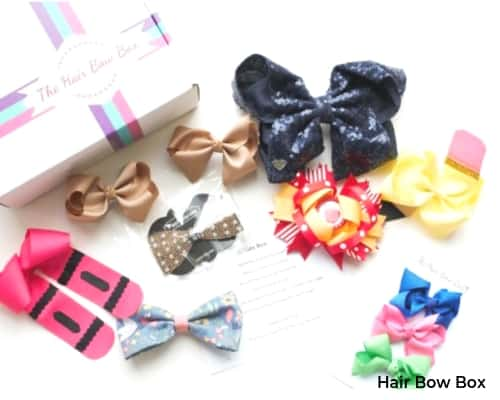 Image of the Hair Bow Subscription Box for baby girls.