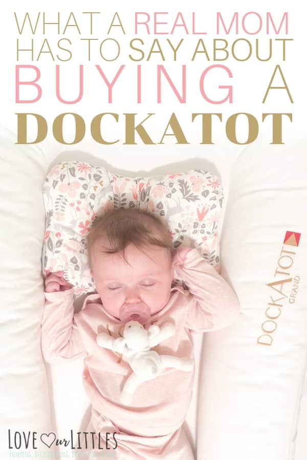 Baby asleep in her DockAtot