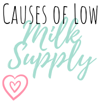 causes of low milk supply