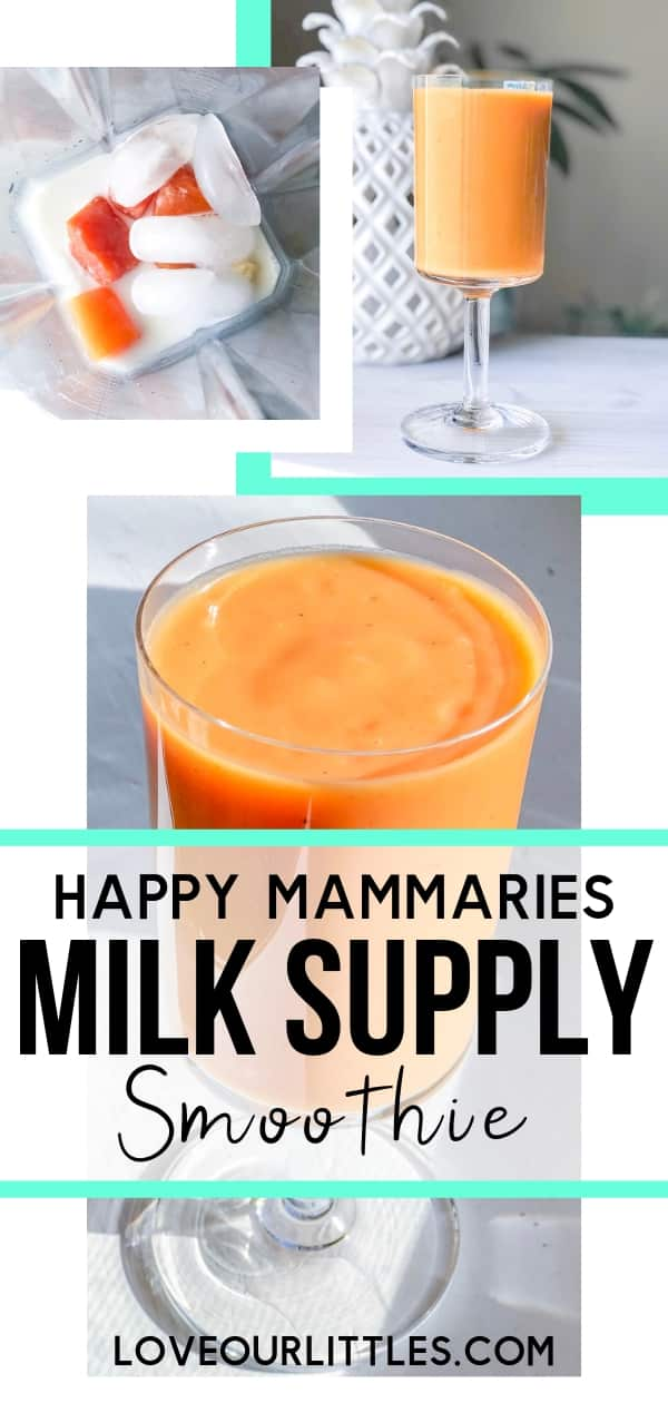 Happy yammaries milk supply smoothie recipe - pin image