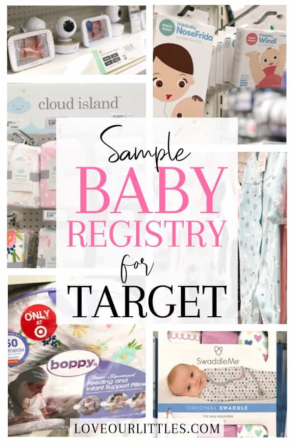 Baby registry necessities for target sample registry list.