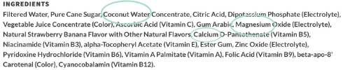 body armor drink ingredients that are galactagogues