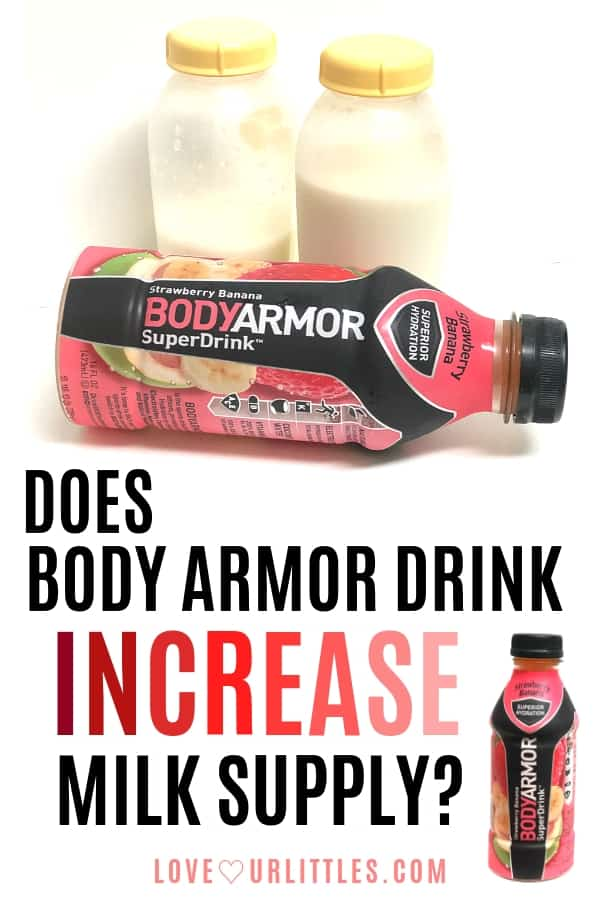 Does body armor drink increase milk supply pinterest pin image