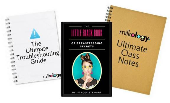 Digital goods mockup of The Ultimate Breastfeeding Class bonuses.