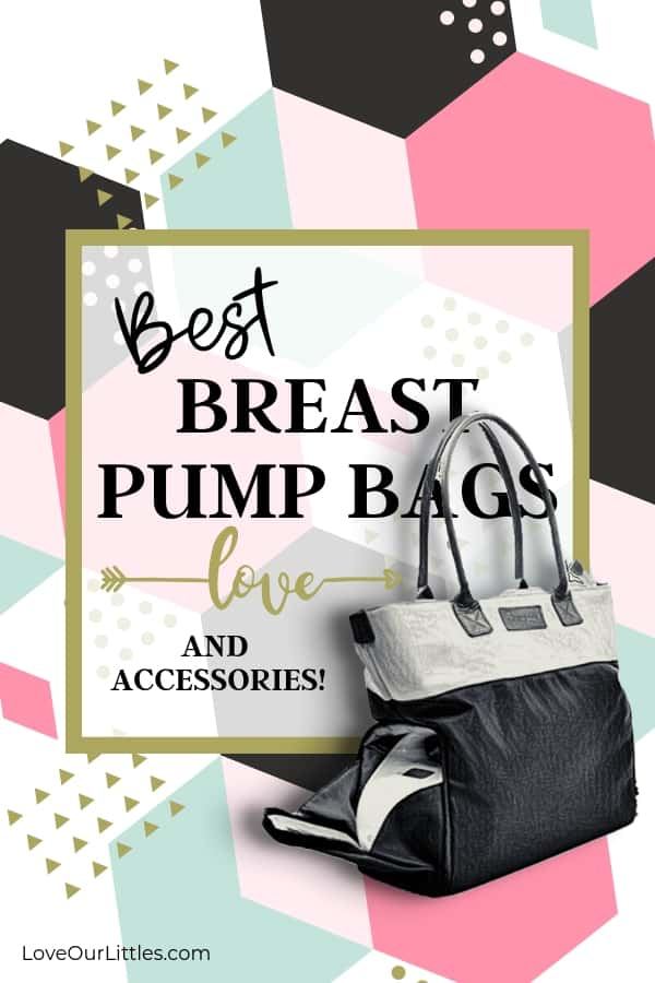 Breast pump bag and accessories.