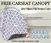 Carseat canopy discount with code LOVEOURLITTLES