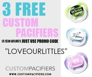 Free pacifiers with code LOVEOURLITTLES