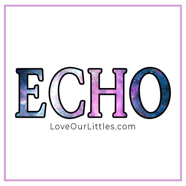 baby name echo starting with e