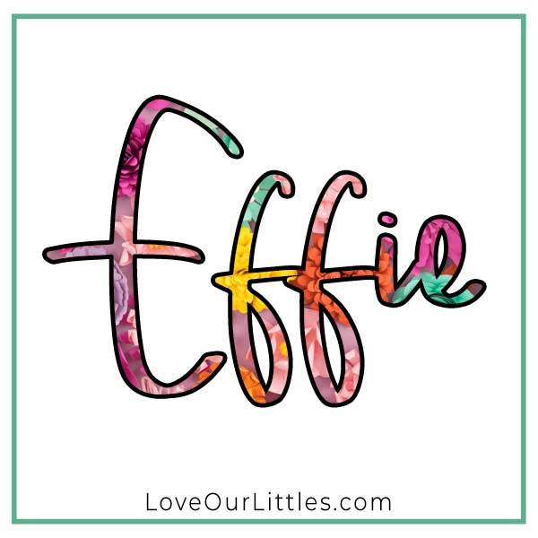 Baby name starting with E - Effie