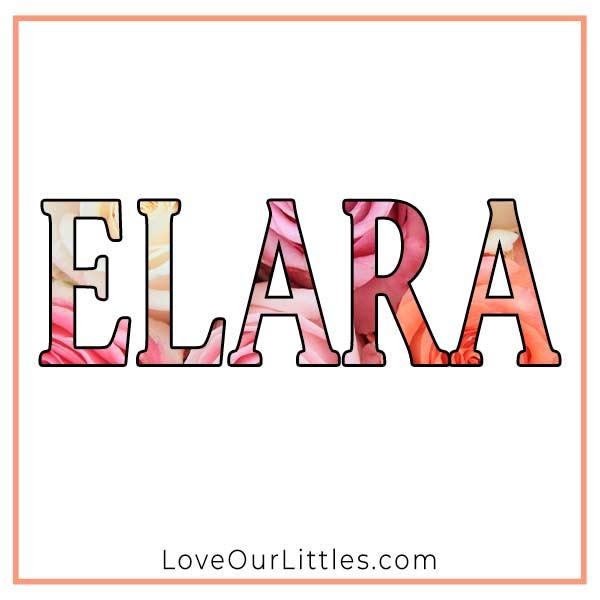 Baby Name for Girls - Elara