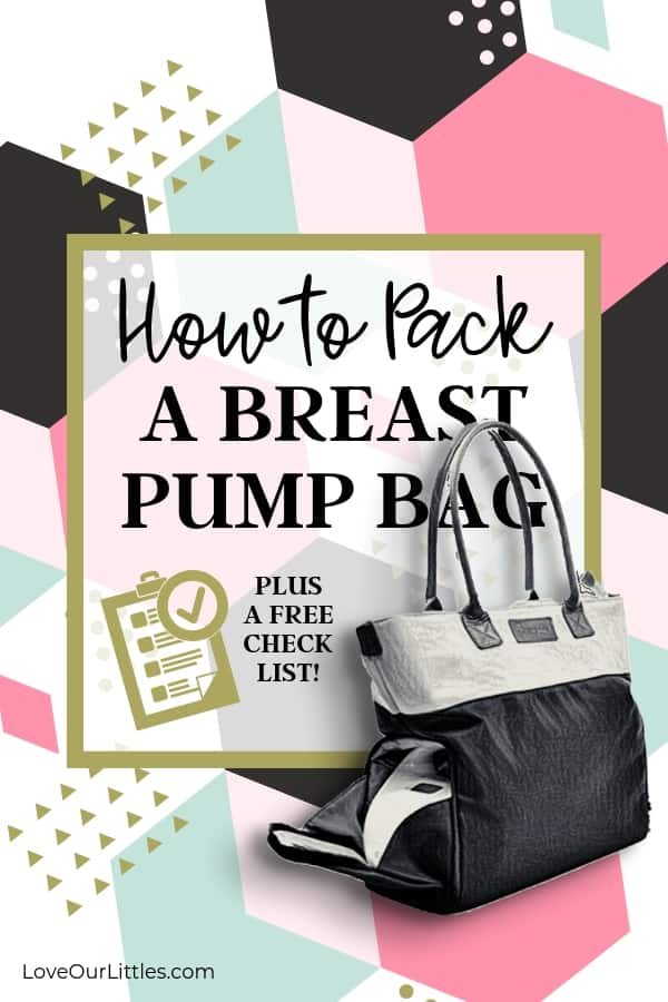 Photo of a breast pump bag packed.