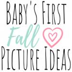 Baby's first fall pictures ideas