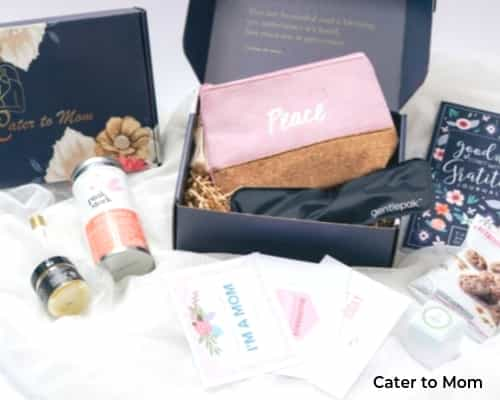 An image of a subscription box for moms in the 4th trimester