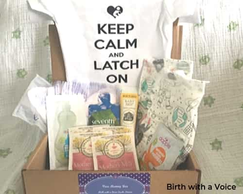 Photo of the subscription box birth with a voice.