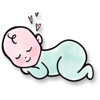 sleeping illustrated baby
