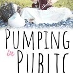 A woman pumping in public