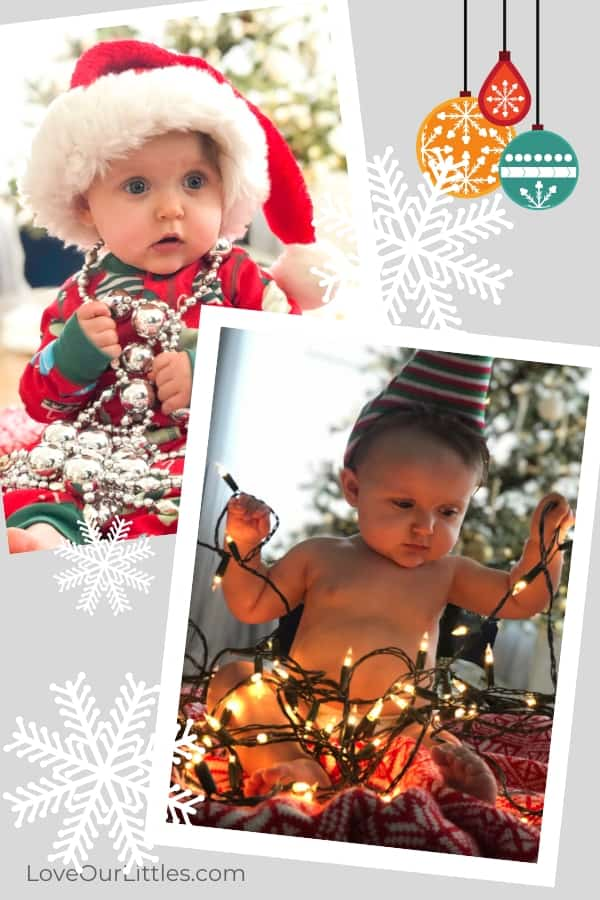 Baby's first Christmas photo ideas