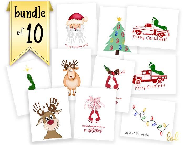 Printable mockups on Christmas crafts for babies and toddlers.