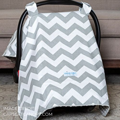 Carseat Canopy with coupon code free baby stuff from Mother's Lounge