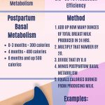 How to calculate calories burned infographic