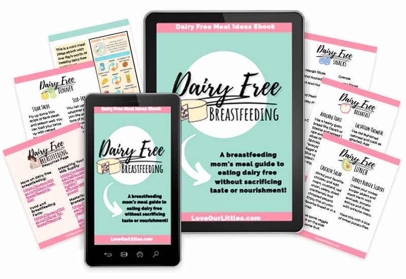 A mock up of this dairy free meal ideas ebook on an iPad and iPhone.