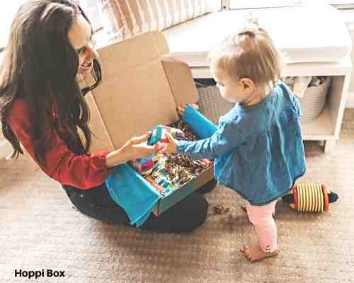 Hoppi Box toy subscription box for babies and toddlers