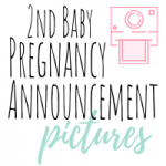 second baby pregnancy announcement pictures