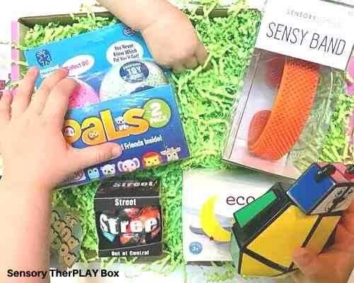 Sensory TheraPLAY Box for toddlers and young children.