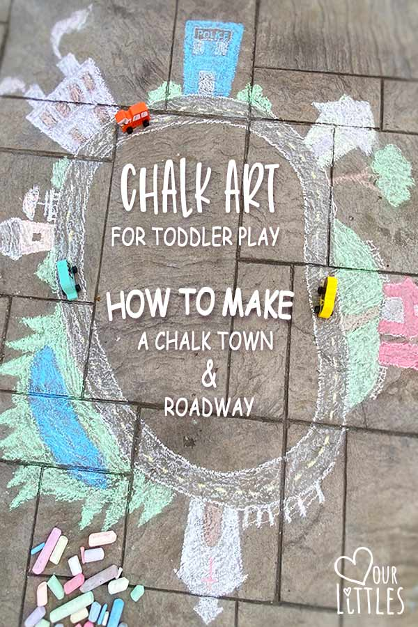 chalk art for toddler play pin it