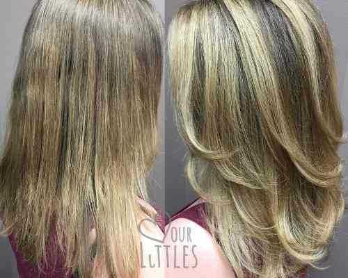 dimensional haircolor for postpartum