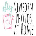 diy newborn photos at home featured image